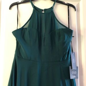 LuLus emerald/teal long evening gown